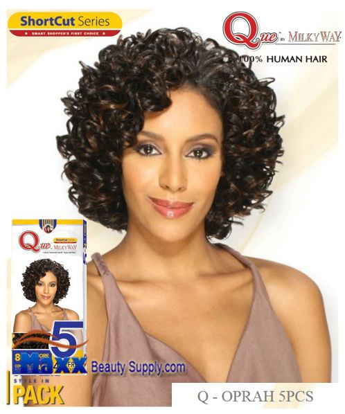 MilkyWay Que Human Hair Weave Short Cut Series - Q-Oprah 5pcs